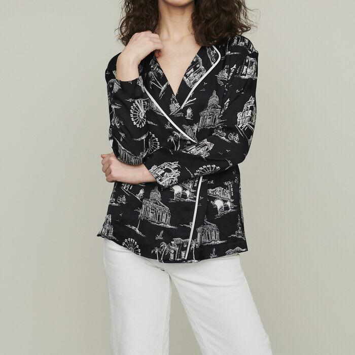 Chemise à imprimé Paris : Chemises couleur BLACK