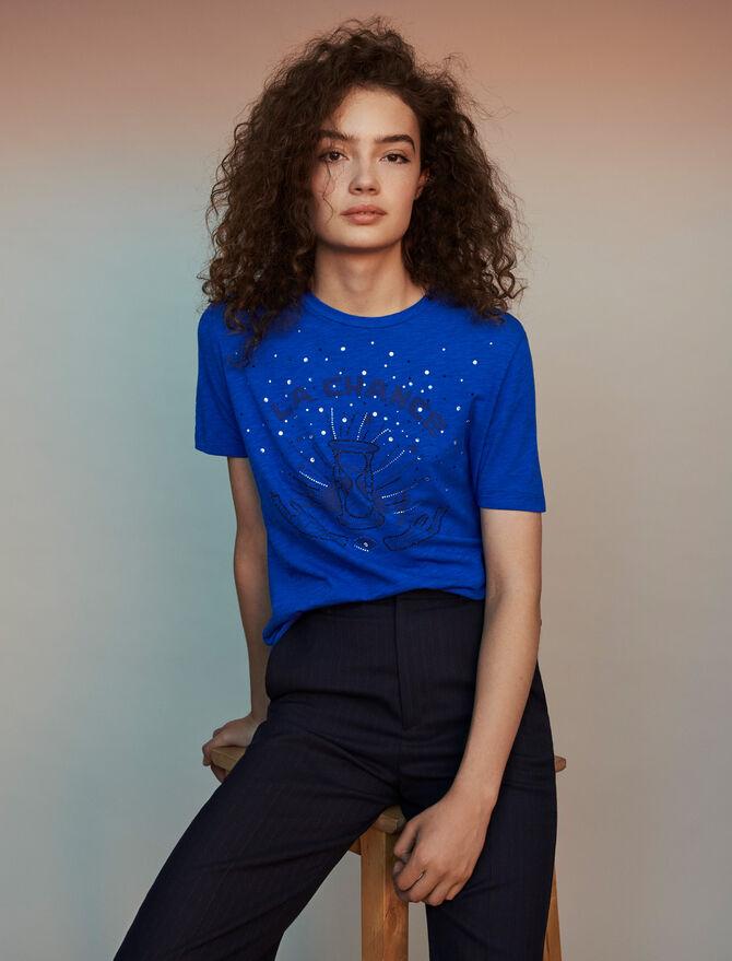 Tee-shirt brodé - T-Shirts - MAJE