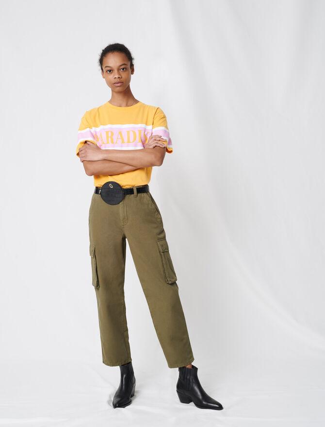 Pantalon denim façon cargo - Pantalons & Jeans - MAJE