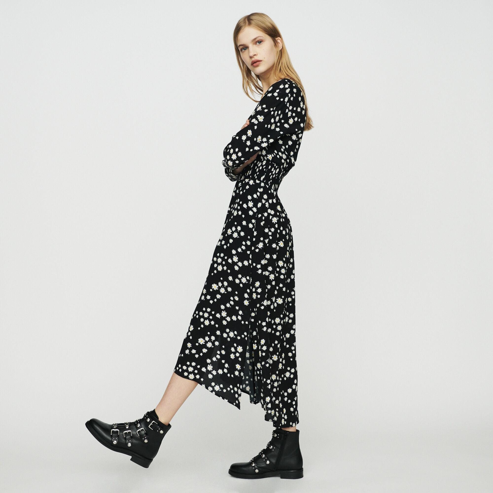 Longue Marguerite Robe Maje Robes Rosila Paris À Imprimé 51HncwqFB
