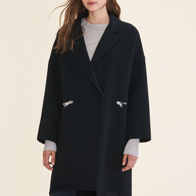 Manteau en laine double face - Manteaux - MAJE