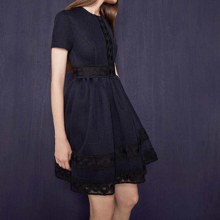ross robe en maille basket avec guipure maje paris. Black Bedroom Furniture Sets. Home Design Ideas
