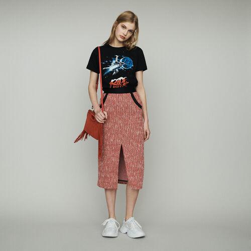 54911e801f0 Jupes   Shorts true Jupe midi façon tweed   Jupes   Shorts couleur Rouge