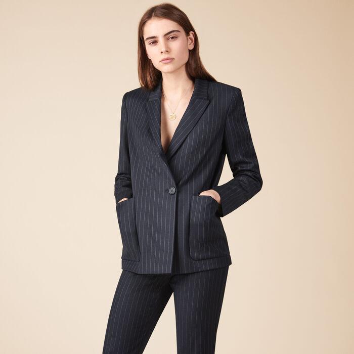 Veste de blazer rayée - Manteaux & Vestes - MAJE