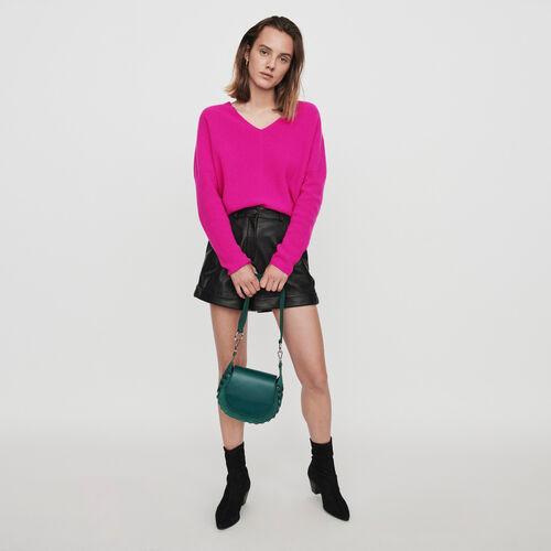 Pull en cachemire à col V : Pulls & Cardigans couleur Violet