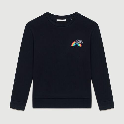 Sweat-shirt molletonné avec impression : Sweats couleur Black