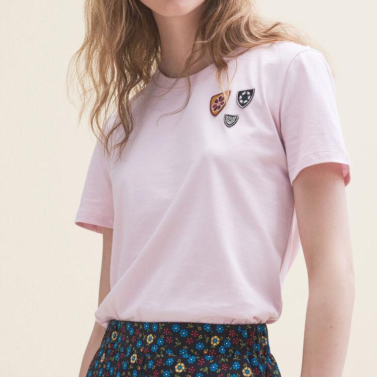 Tee-shirt basique en coton - T-Shirts - MAJE