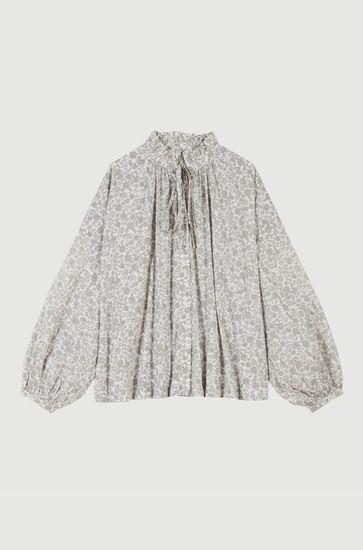 Chemise en coton à imprimé floral