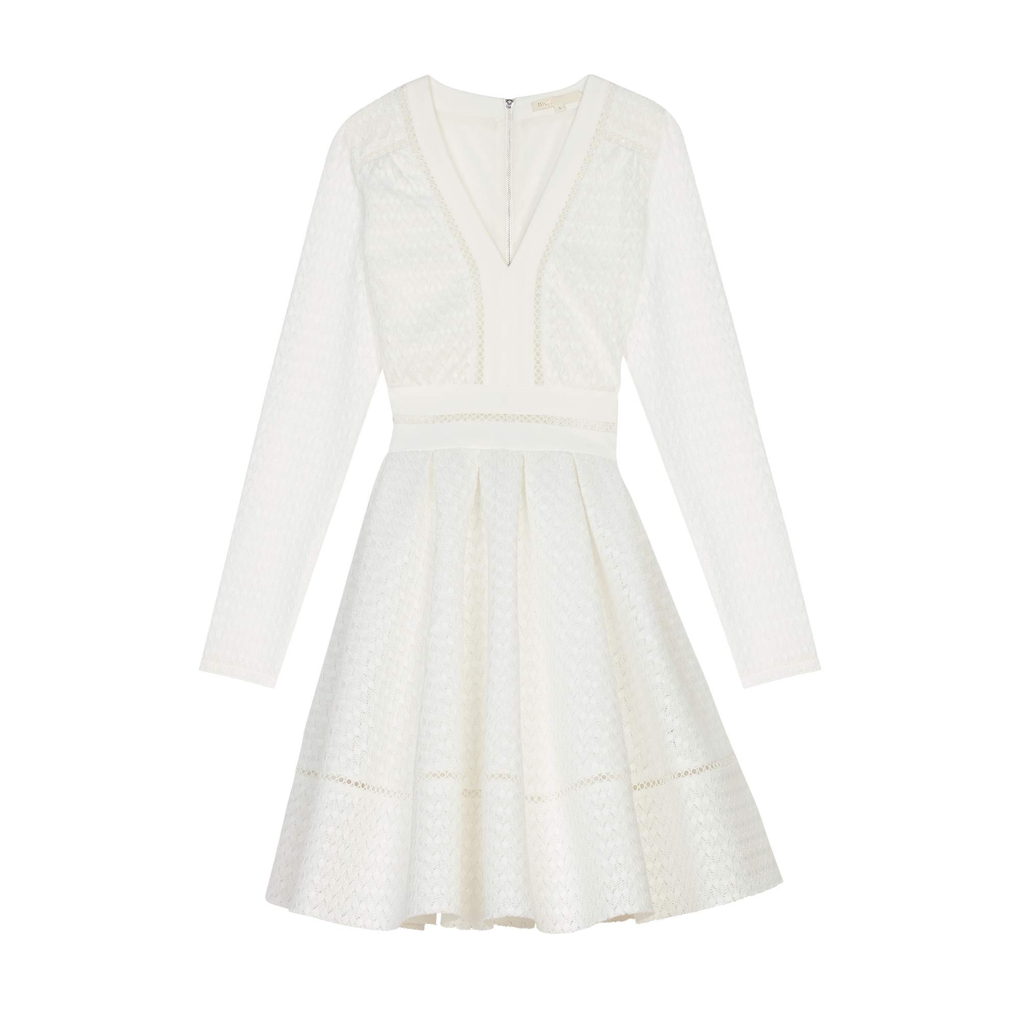 Robe patineuse en dentelle  - Robes - MAJE