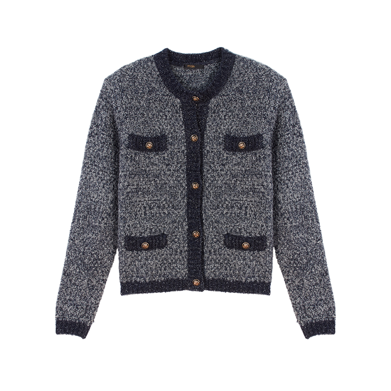 Cardigan en maille fantaisie Lurex - Collection hiver - MAJE