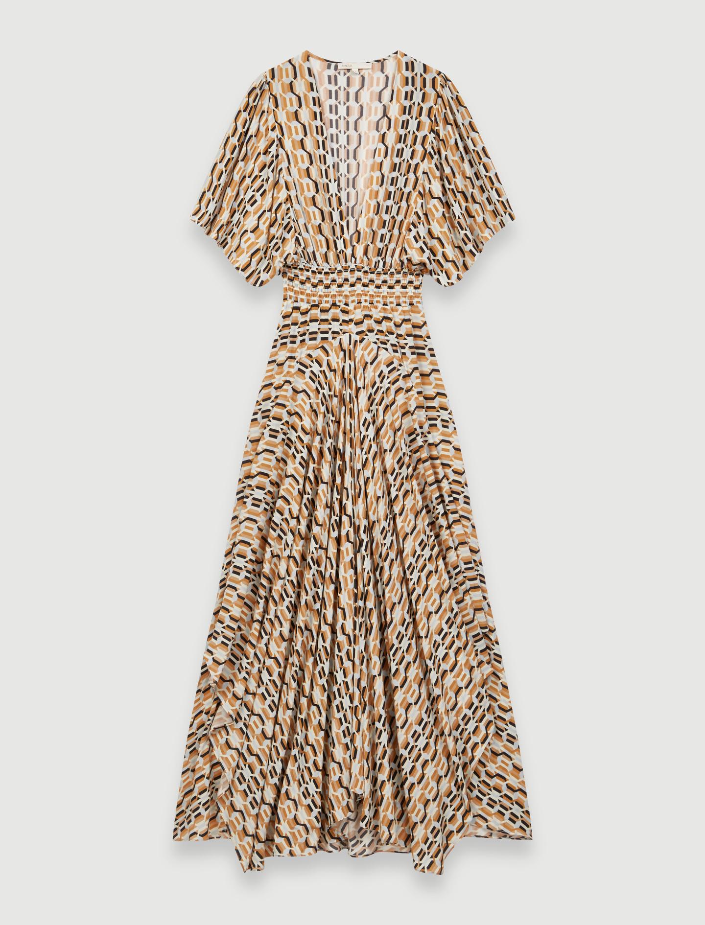 220RACHELLI Robe foulard imprimée à taille smockée Robes
