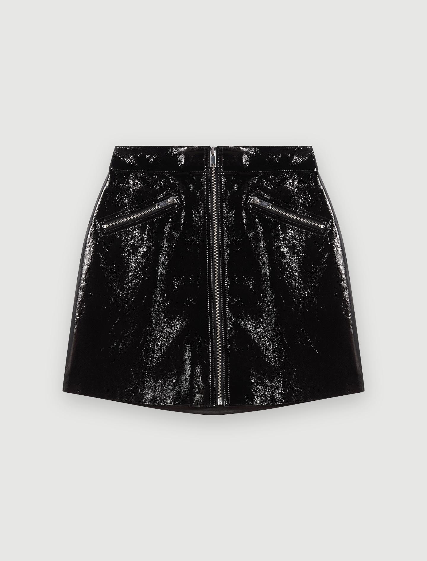 119JINYL Jupe zippée en cuir façon vinyle Jupes & Shorts
