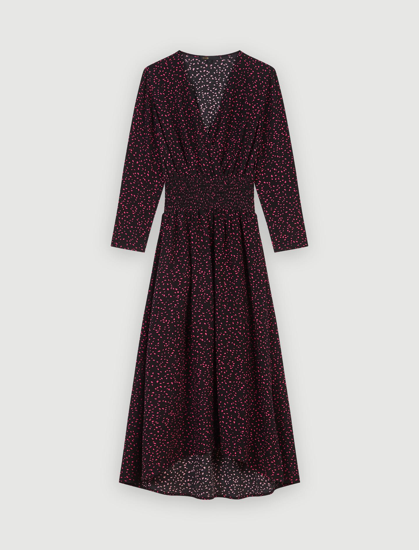 Maje Manteau Galar en drap de laine et velours