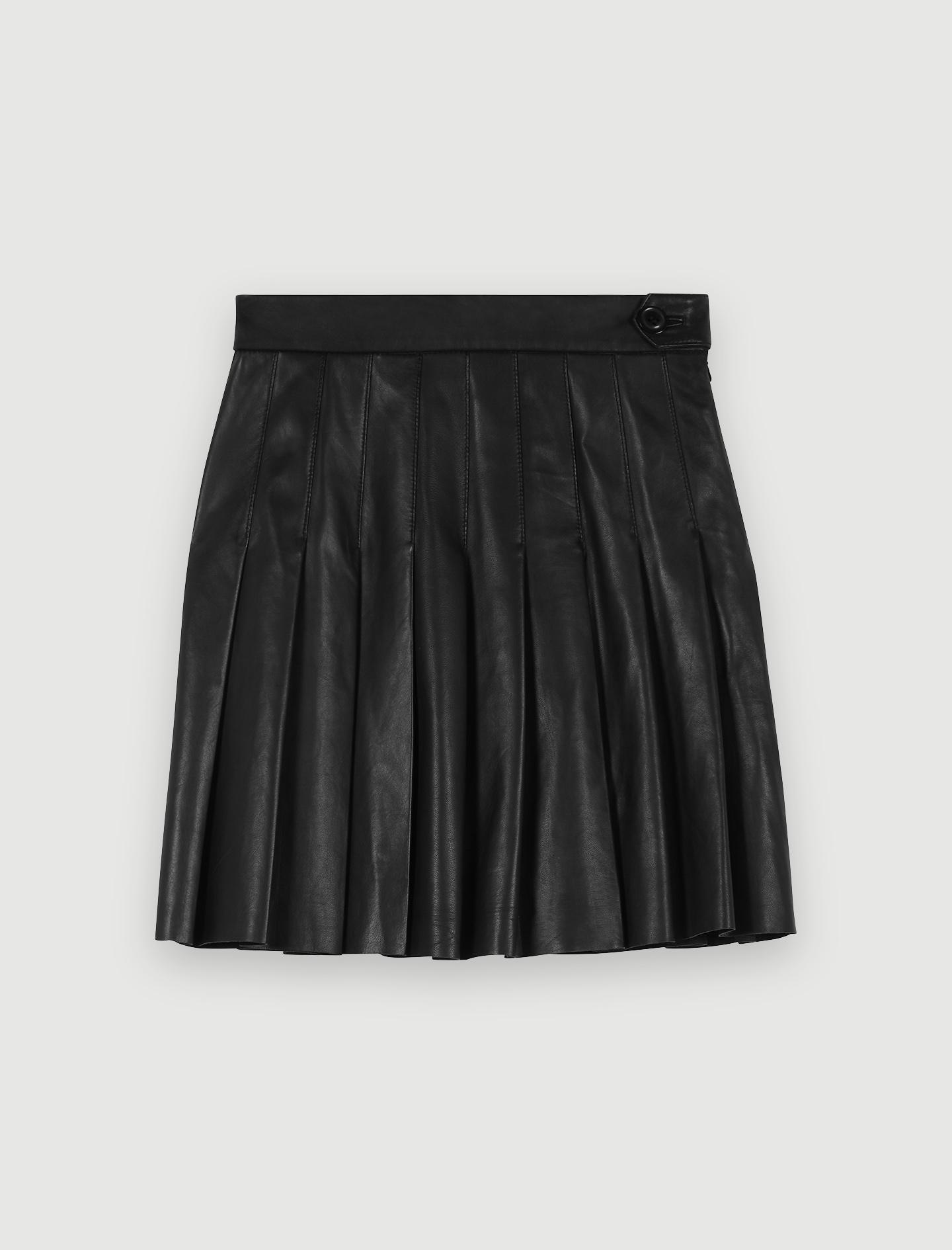 maje jupe plissée lurex