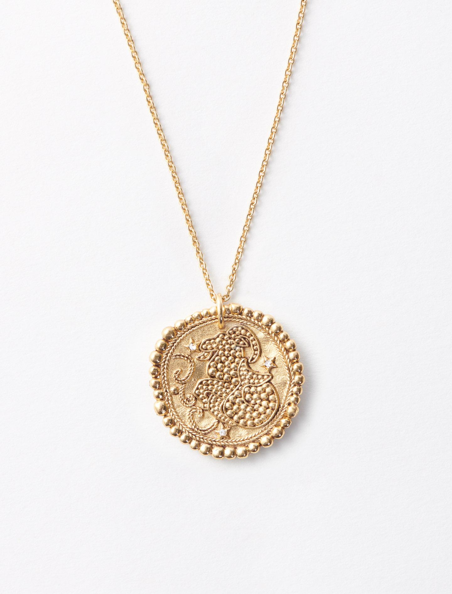 119CAPRICORNEV1 Médaille Constellation Capricorne Bijoux